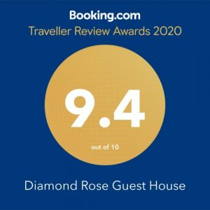 Diamond Rose Booking.com Traveller Review Awards